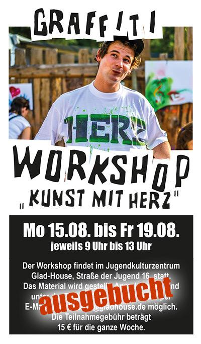 Graffiti-Workshop Kunst mit Herz